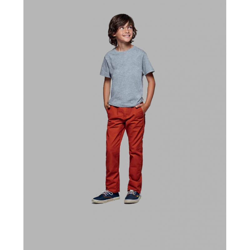 Camiseta premium manga corta para niño color gris
