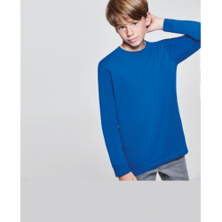 Camiseta de niño de manga larga color azul totalmente personalizable