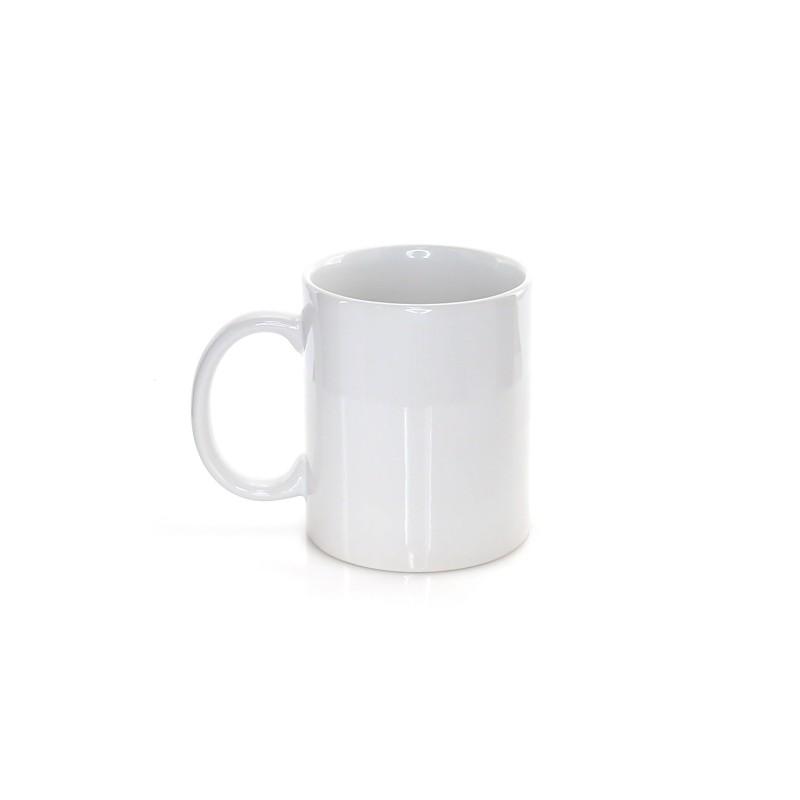 Taza de cerámica blanca de 350 ml