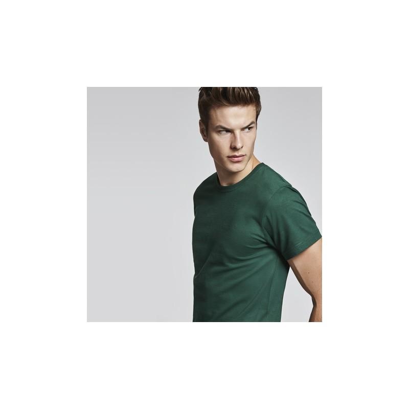 Camiseta manga corta unisex color verde grass