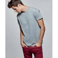 Camiseta manga corta unisex color gris vigoré